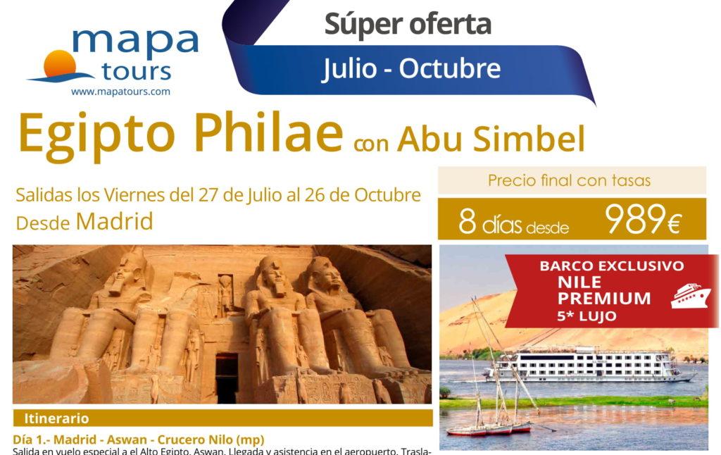 Egipto Philae con Abu Simbel