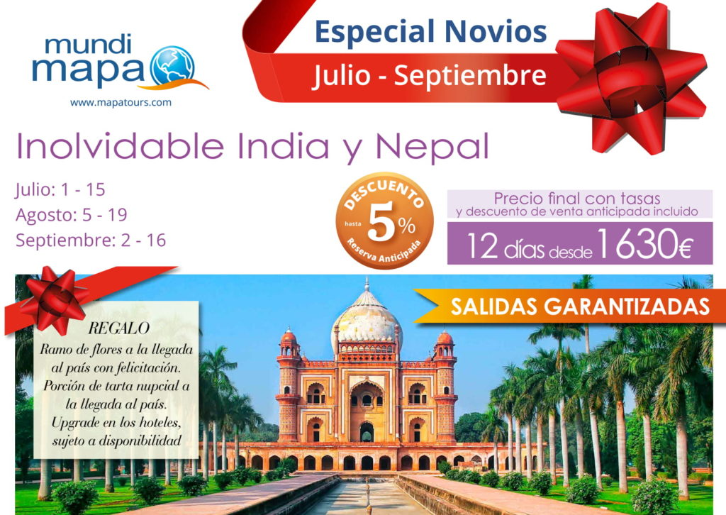 Inolvidable India y Nepal