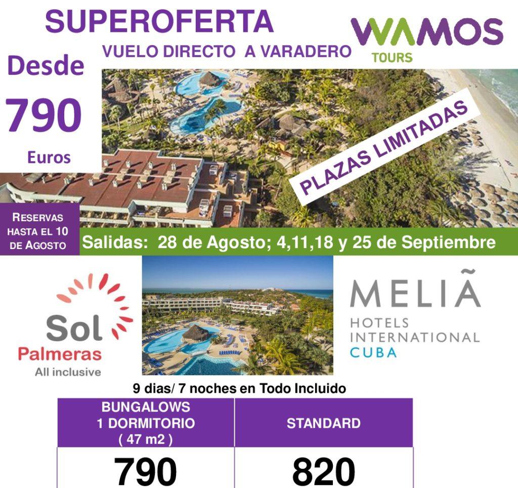 SUPEROFERTA CUBA - DESDE 790€ - SEPTIEMBRE