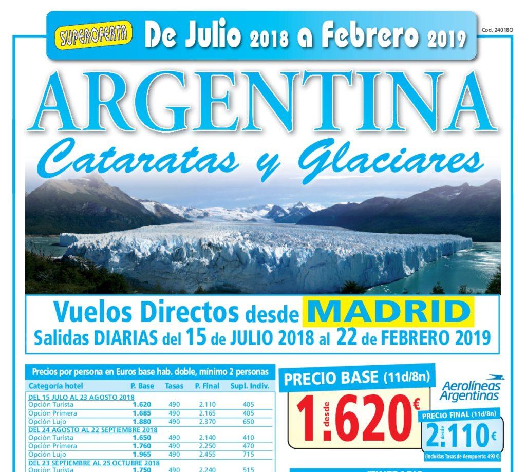 ARGENTINA, especial cataratas y glaciares.