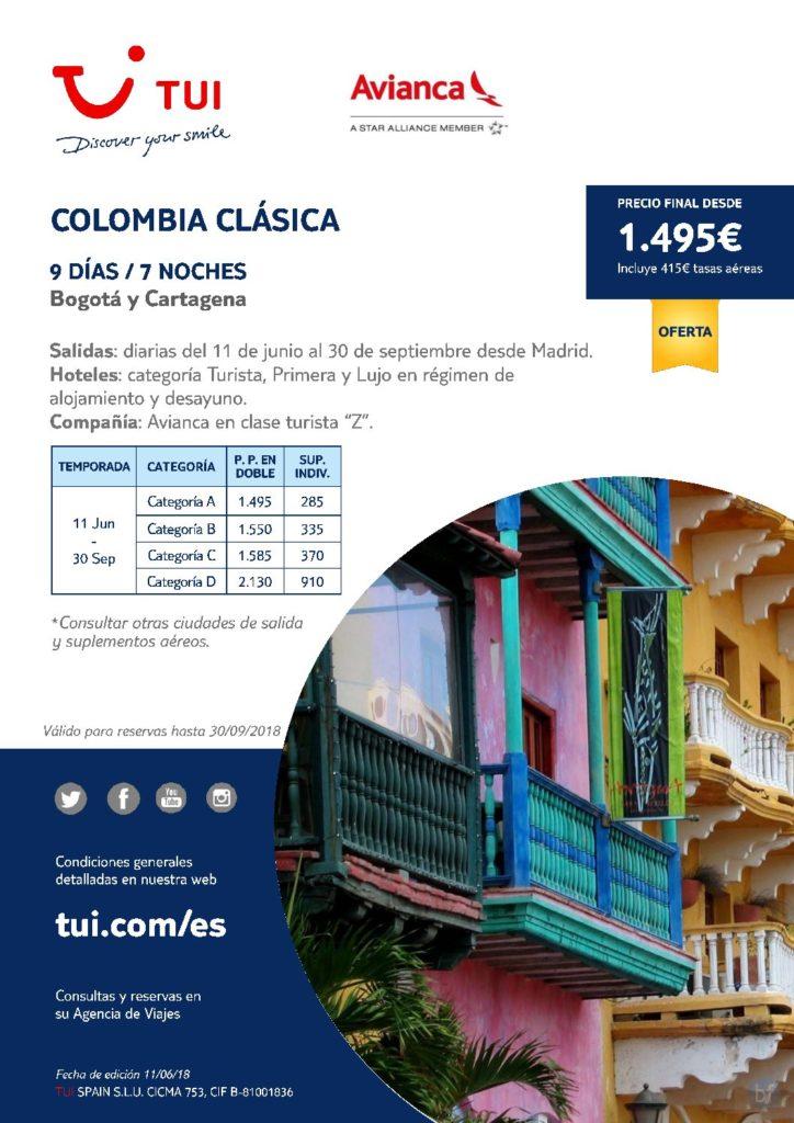 COLOMBIA CLÁSICA - BOGOTÁ Y CARTAGENA
