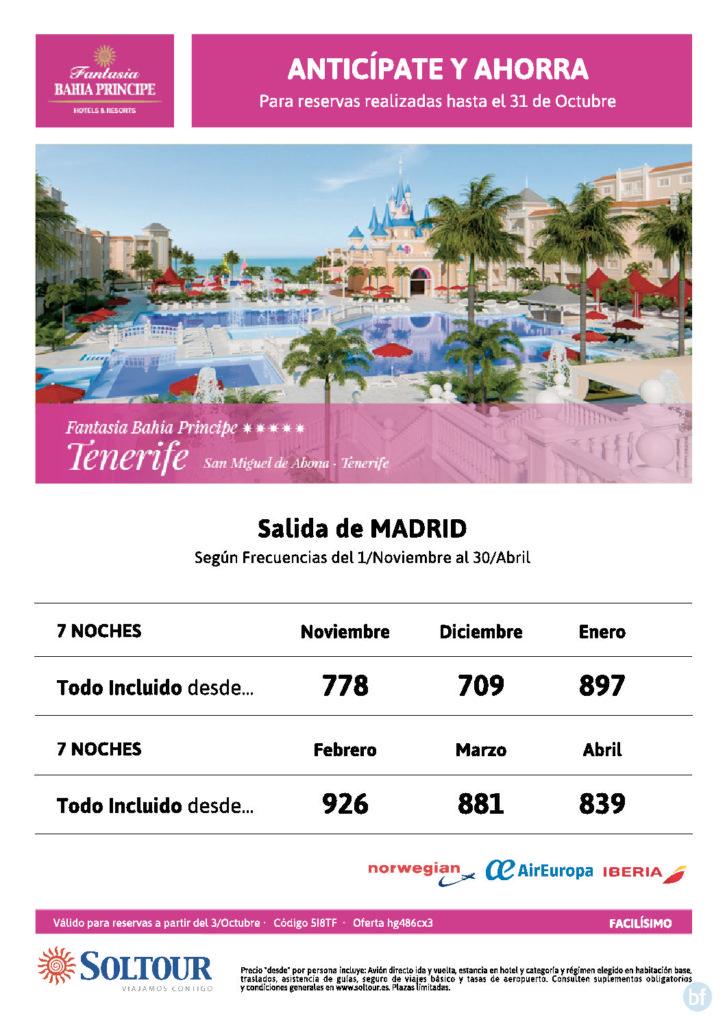 ANTICÌPATE Y AHORRA TENERIFE SALISA DESDE MADRID