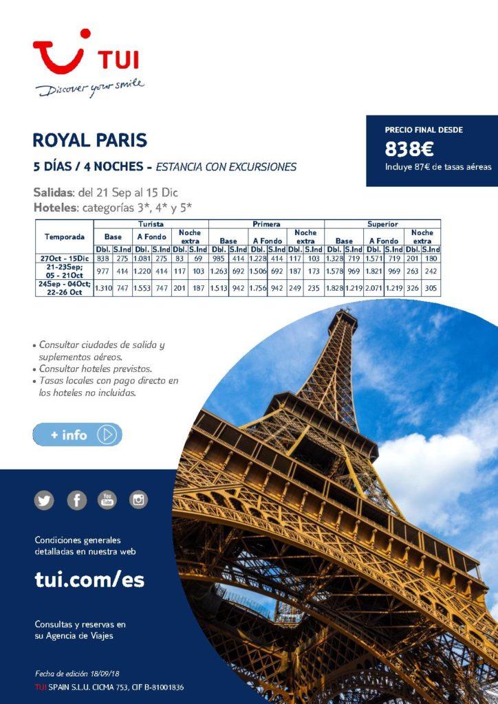 ROYAL PARIS 5 DIAS/4NOCHES