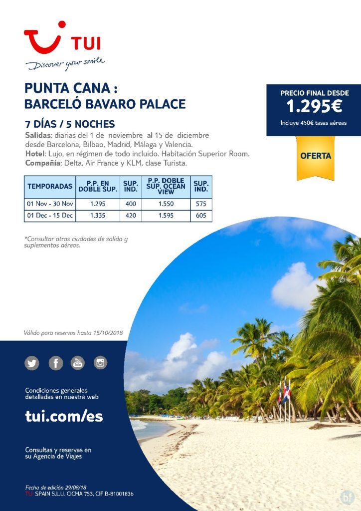 PUNTA CANA : BARCELÓ BAVARO PALACE