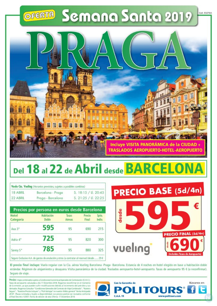 PRAGA - SEMANA SANTA 2019